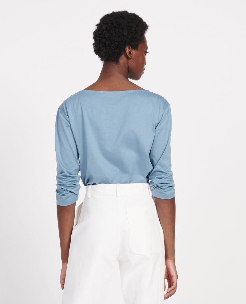 Langärmeliges T-Shirt aus Baumwolle mit U-Boot-Ausschnitt Bluestone Lotel