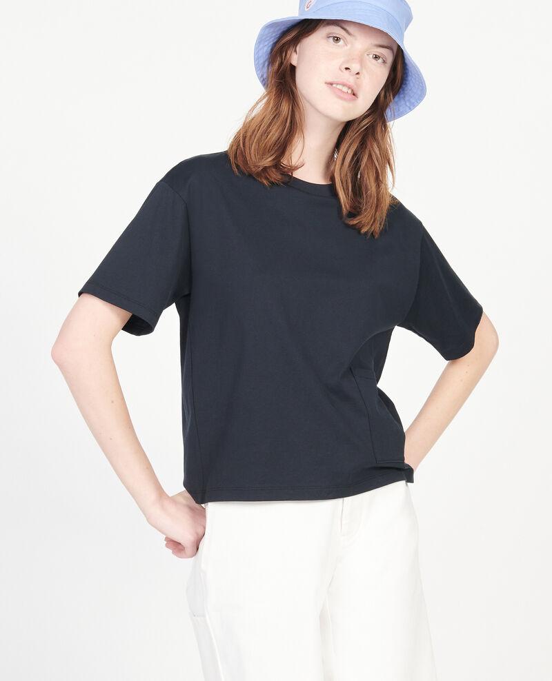 Boxy T-Shirt aus merzerisierter Baumwolle Black beauty Lexana