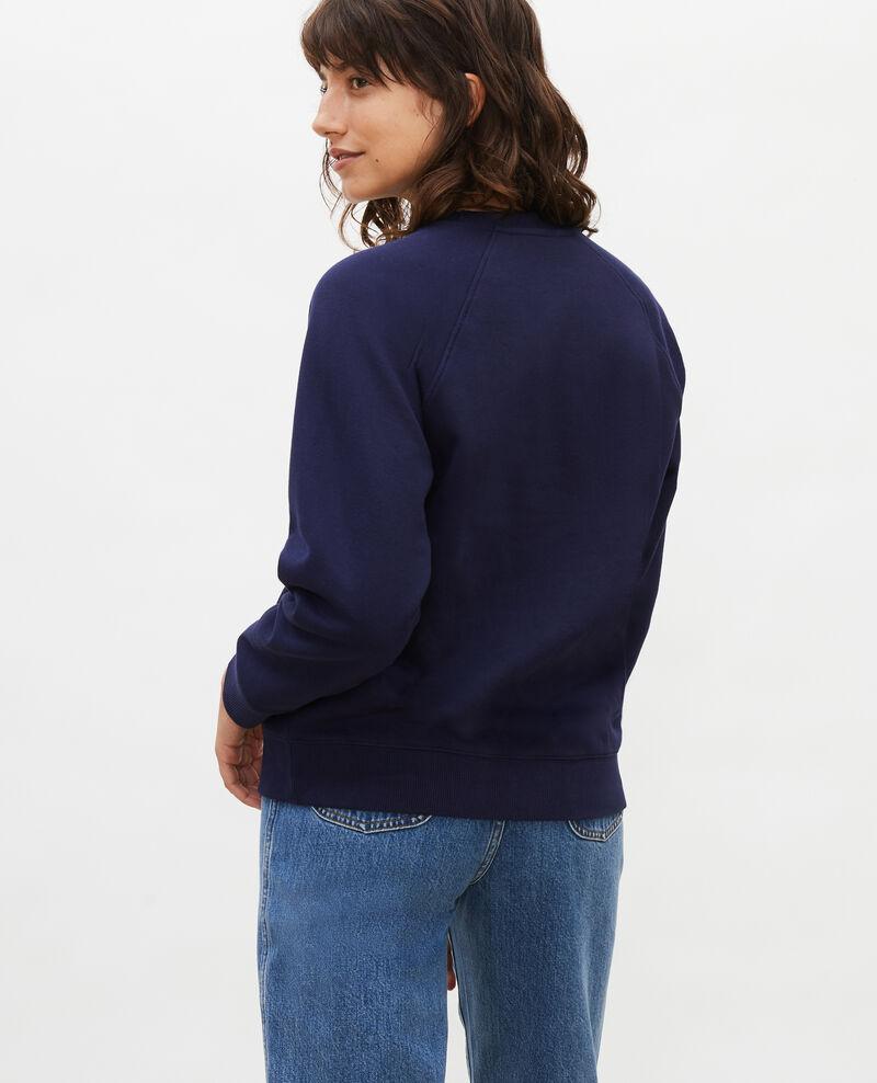 Sweatshirt aus Molton Maritime blue Lison