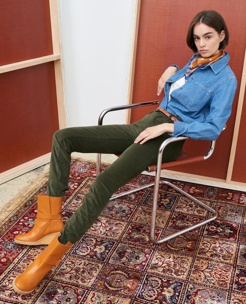 LILI - SLIM - 5-Pocket-Jeans Dark olive Pavelt