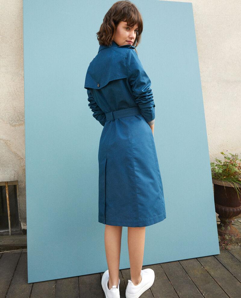 Halblanger Trenchcoat Majolica blue Gabien