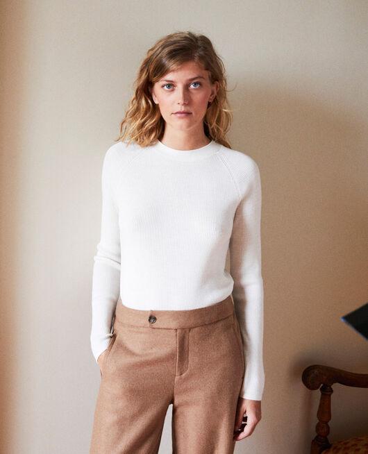 Pullover mit Knöpfen im Rücken OFF WHITE