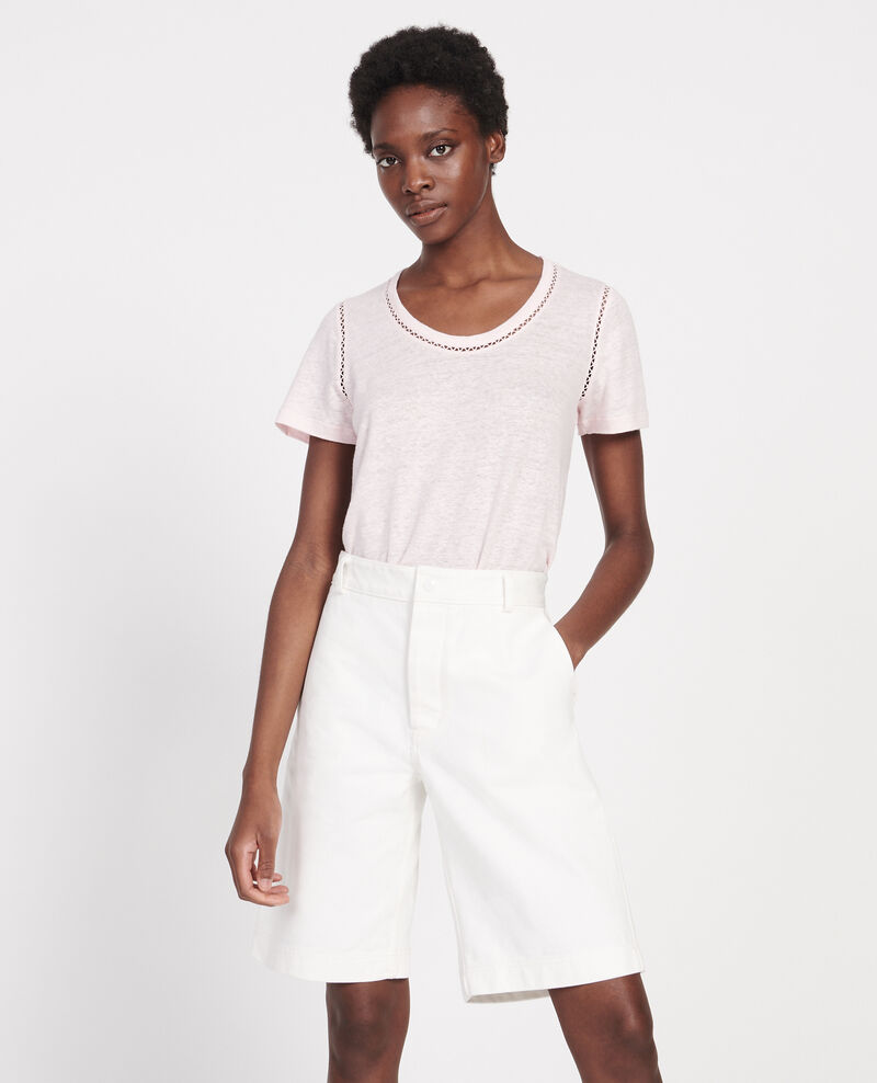 T-Shirt aus Leinen Primrose pink Lye