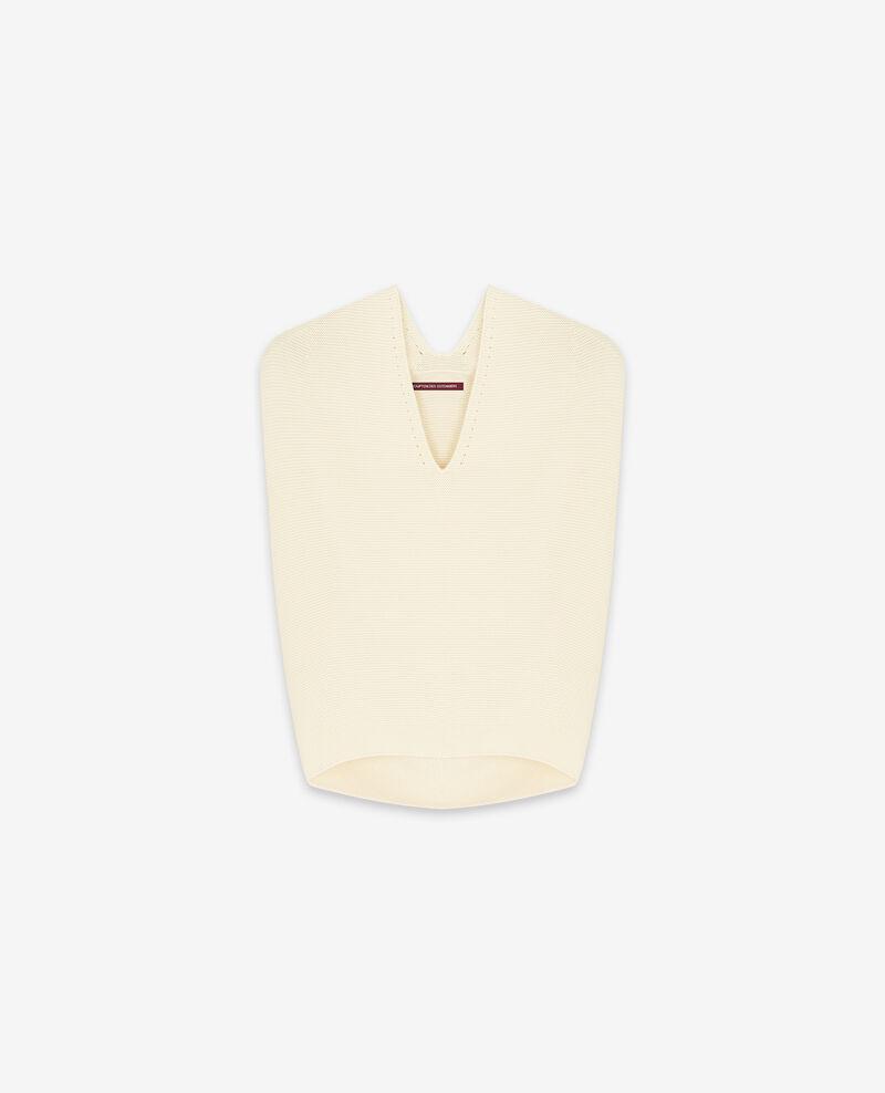 Ärmelloser Pullover ohne Nähte Off white Dexterieur