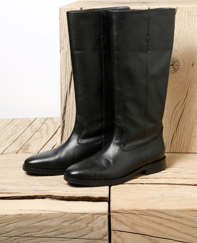 Stiefel aus Glattleder Schwarz Gemini