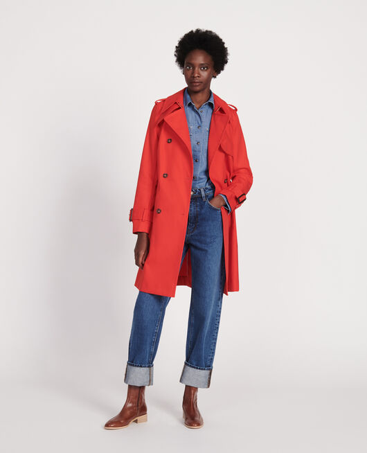 Zeitloser Trenchcoat FIERY RED