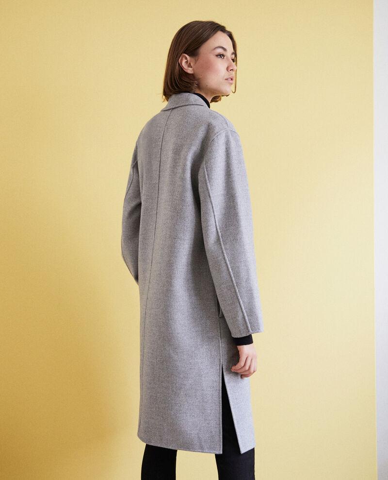 Doppelseitiger Mantel Light grey Irelie