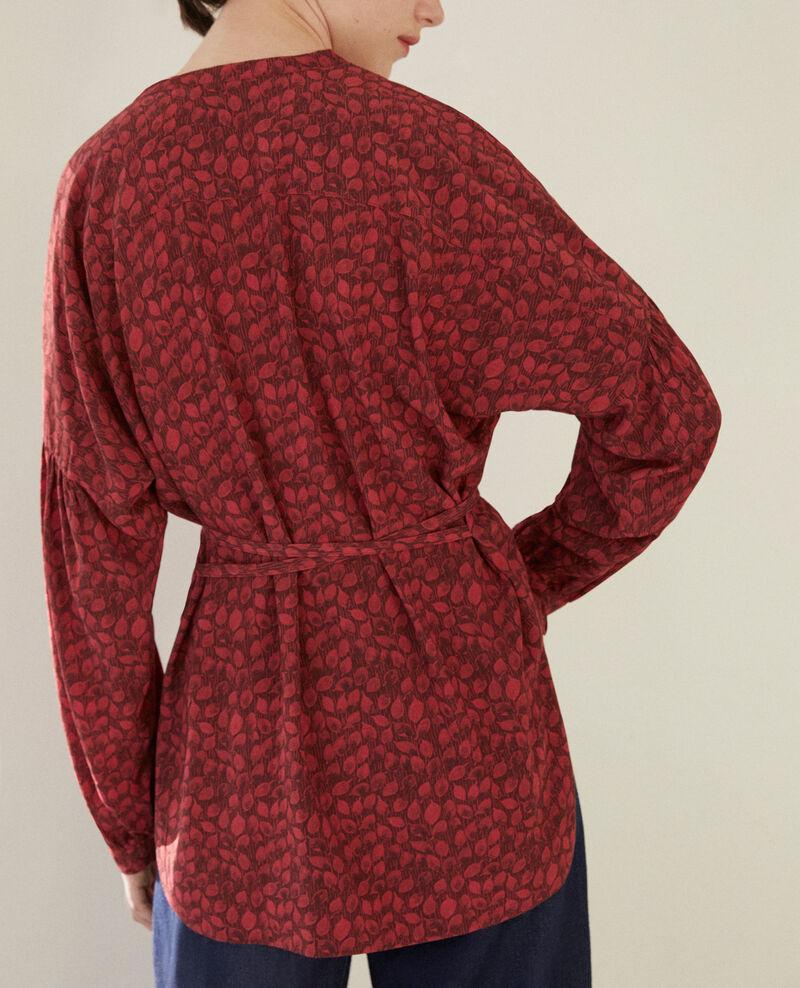 Bluse mit weitem Schnitt Ld rio red Garuya