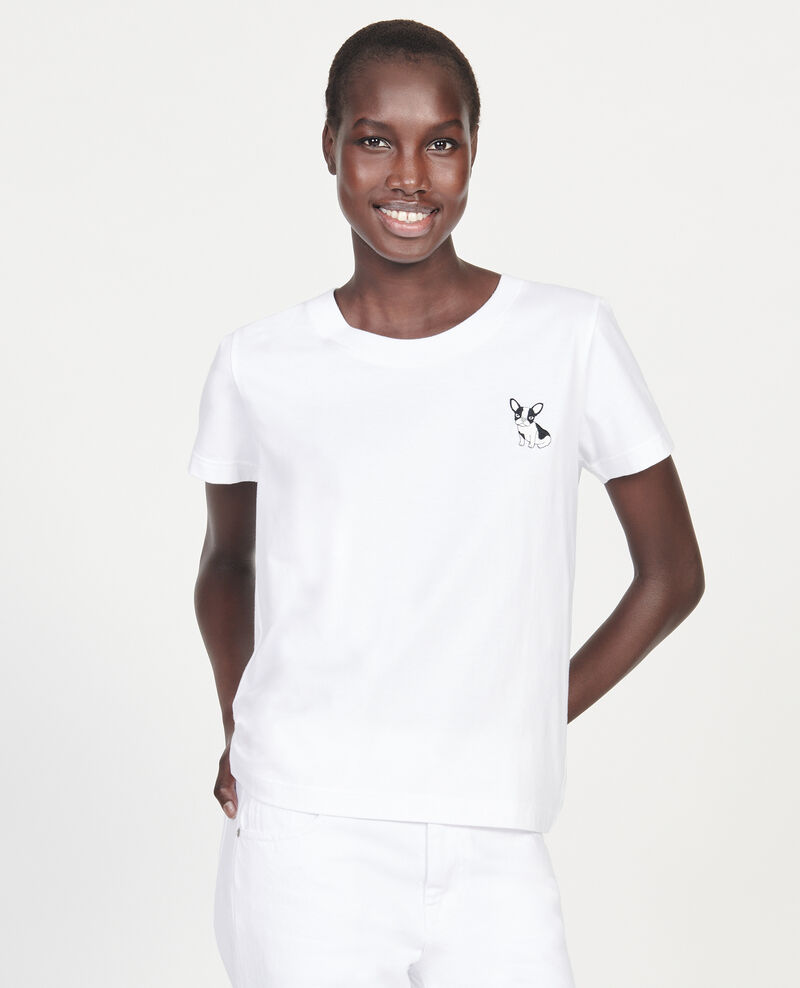 Léon T-Shirt aus Baumwolle Optical white Lenou