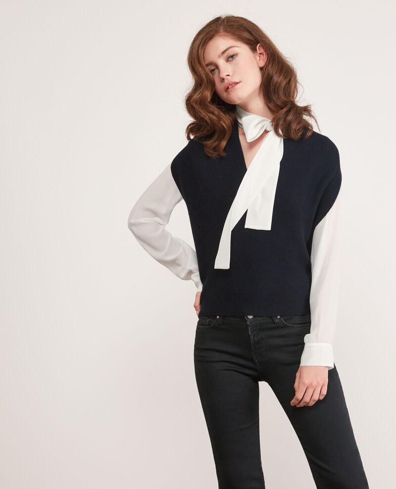 Ärmelloser Pullover ohne Nähte Navy Dexterieur