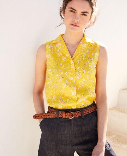 Ärmellose Bluse aus Baumwolle PRIMULA SY