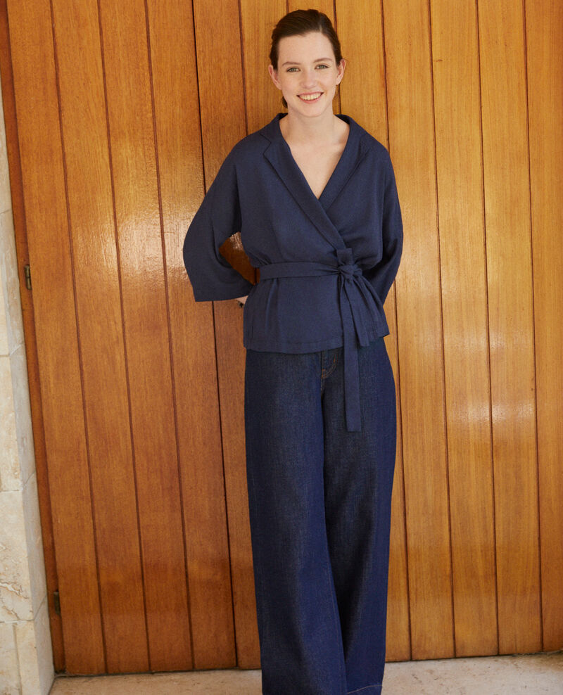 Wickelbluse Blau Guidell