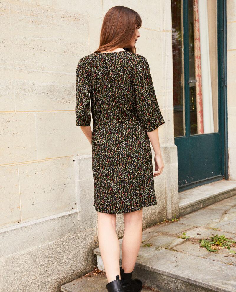 Gemustertes Kleid Daphne noir Jafete