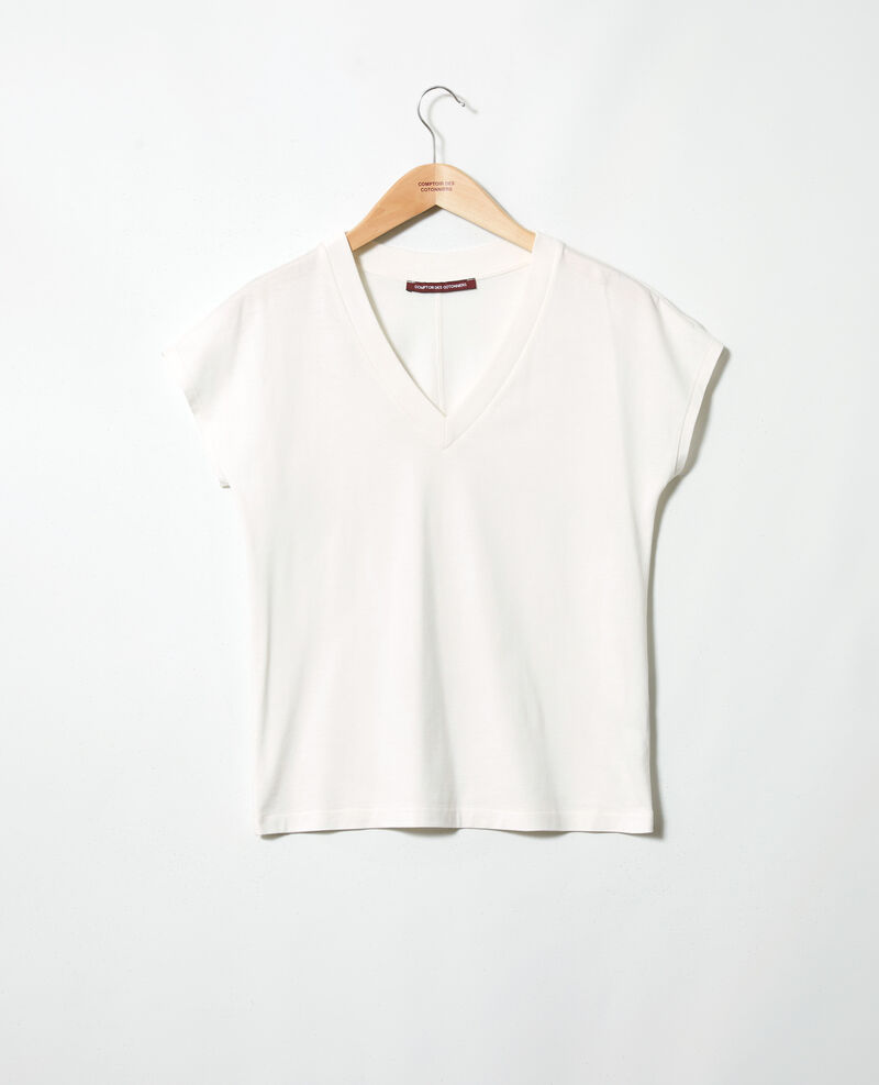 T-shirt col V Off white Ifallena