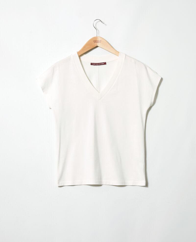 T-Shirt mit V-Ausschnitt Off white Ifallena