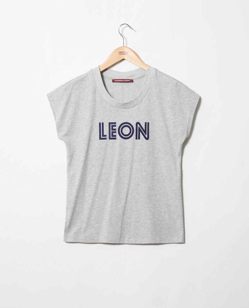 """T-shirt """"Léon"""" Heather gr/navy Ithera"""