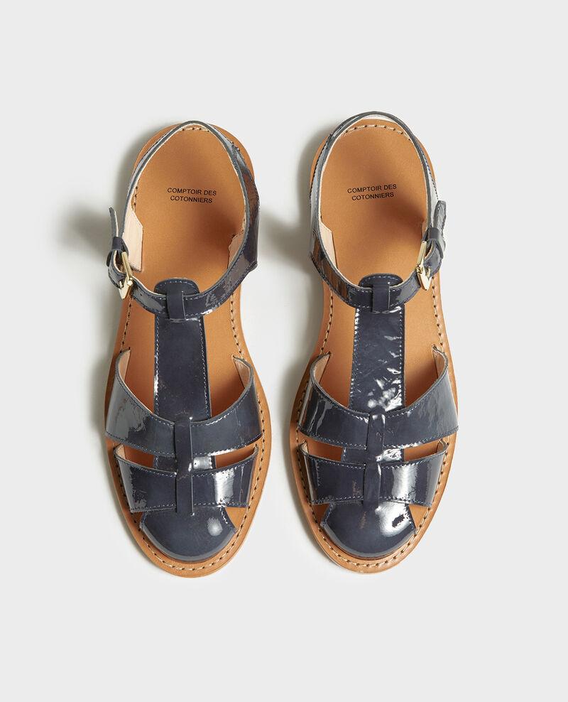 Sandalen aus Lackleder Maritime blue Lapiaz