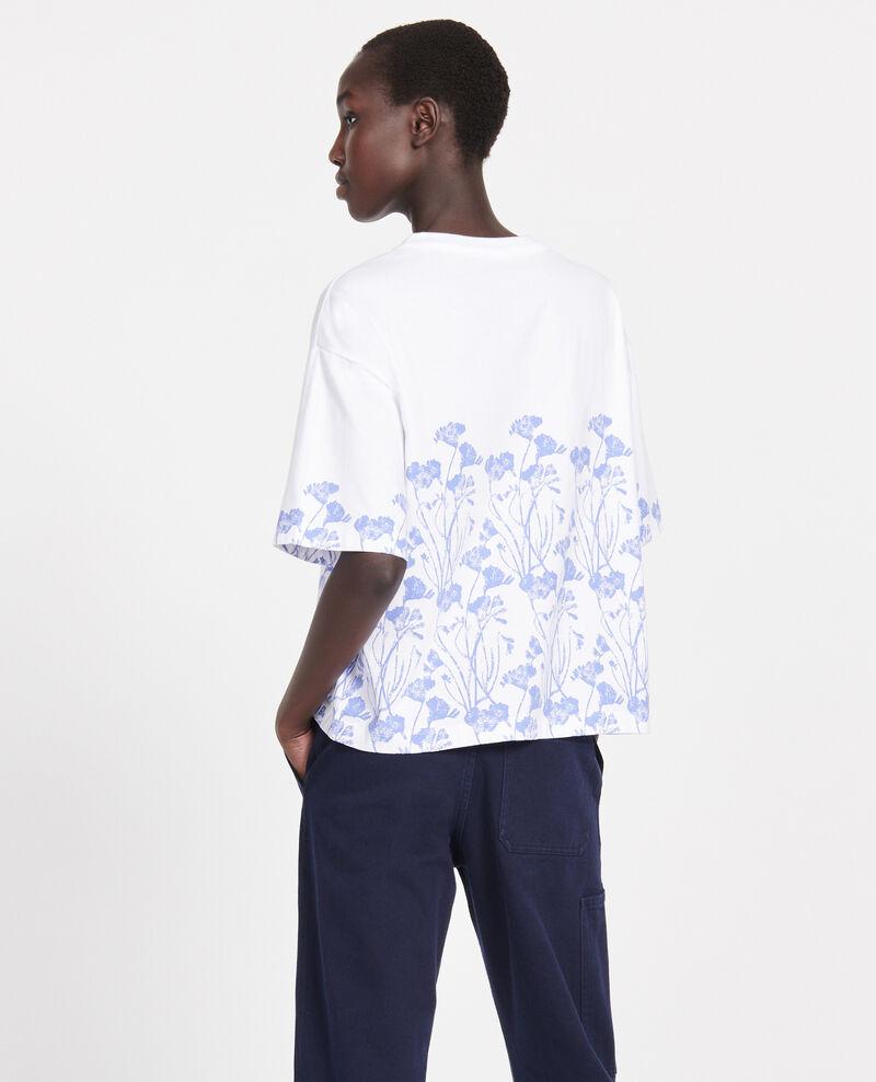 T-Shirt mit Blumenmuster aus Baumwolle Empreinte gardenia jewel Lenoyera