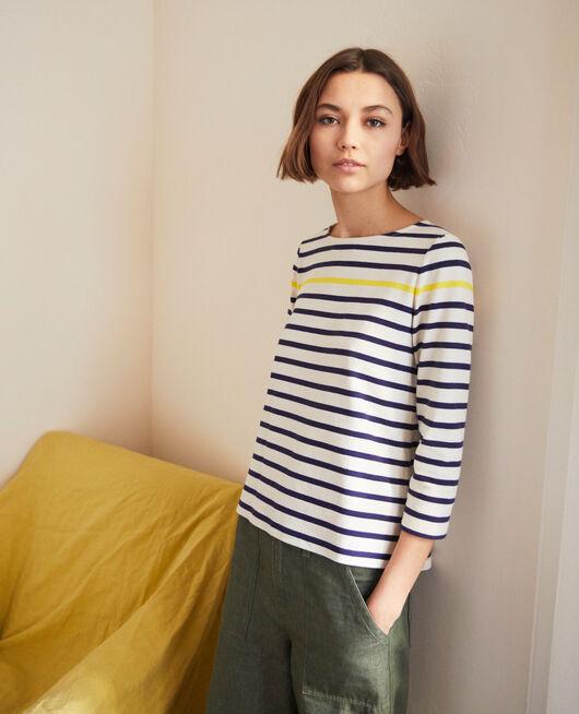 Matrosen-T-Shirt Bleu marine