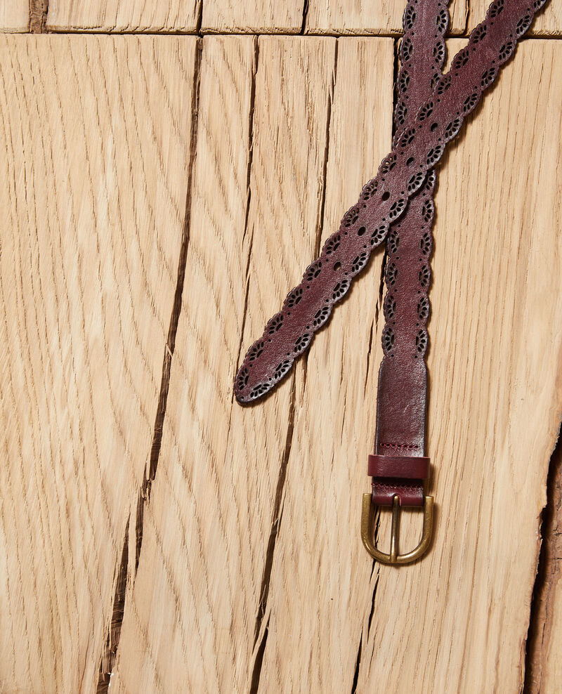 Gürtel aus verziertem Leder Braun Godon