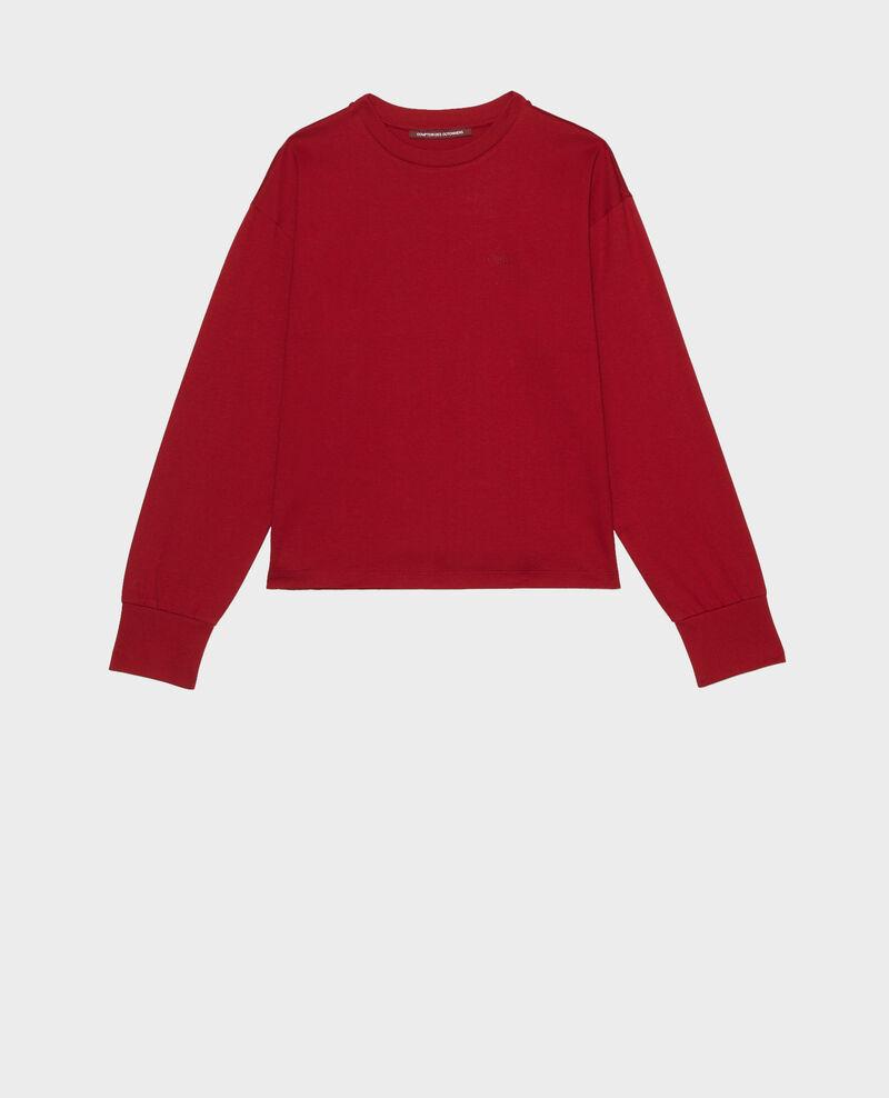 Langärmliges T-Shirt aus Baumwolle Royale red Mainzac