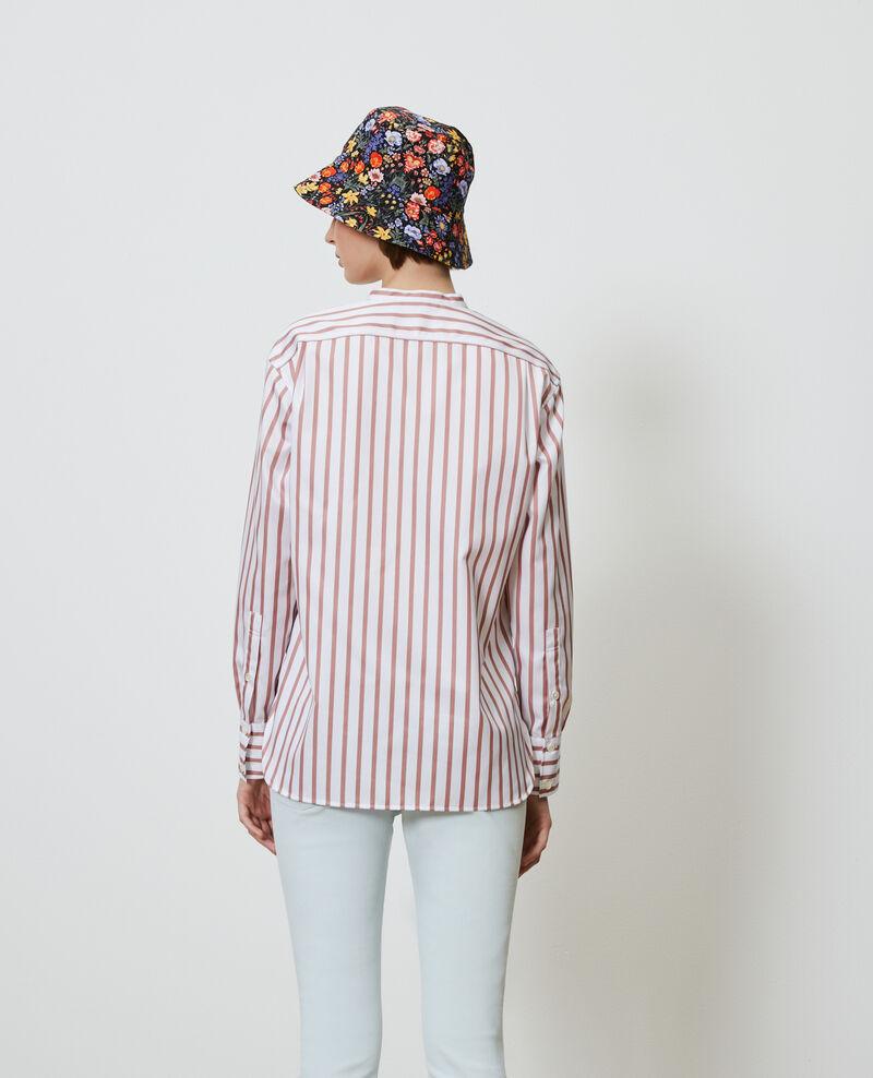 Baumwollbluse mit Rundhalsausschnitt Deauville stripe Nannion