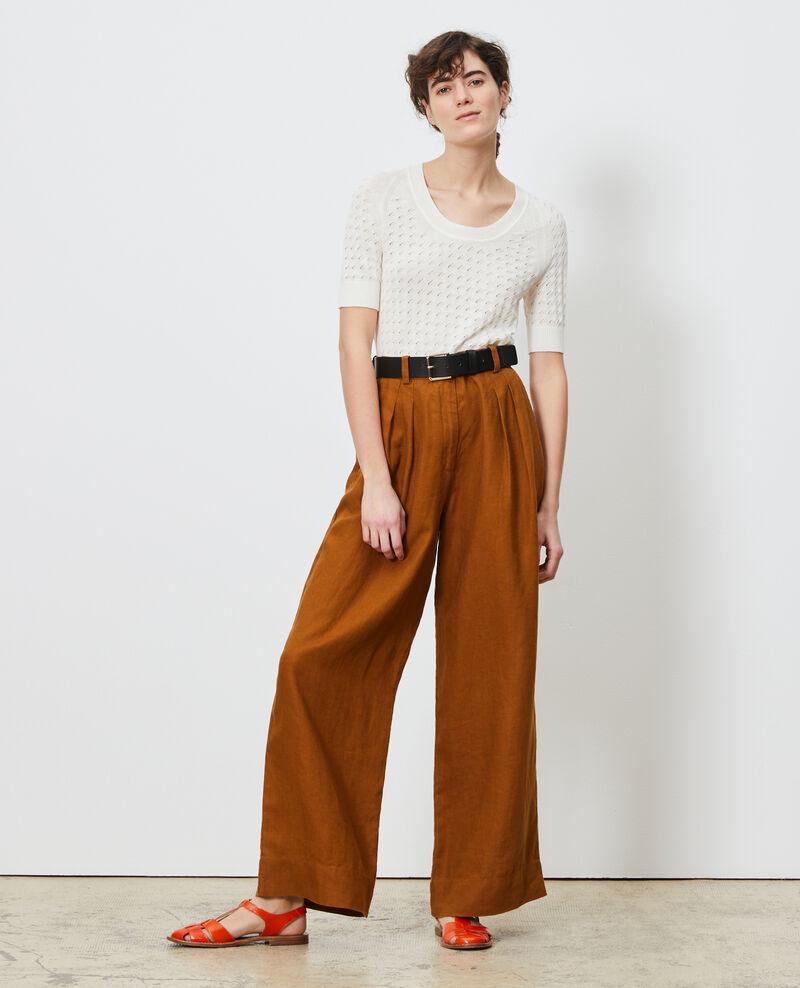 Kurzarm-Pullover aus Baumwolle und Leinen Gardenia Novileta