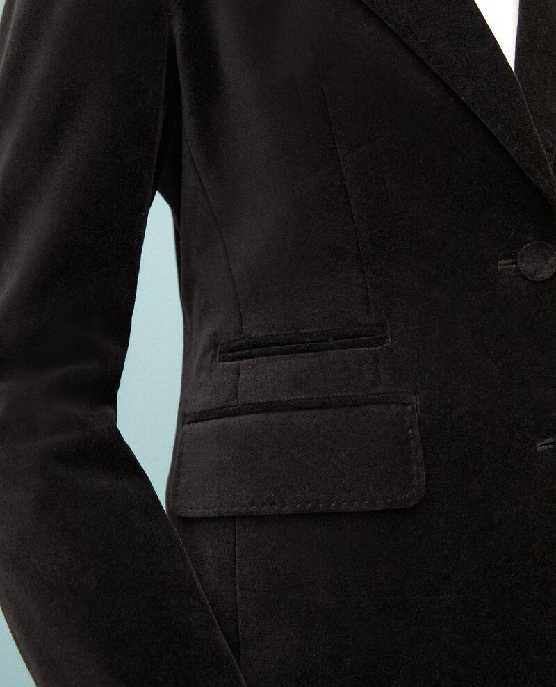 Anzugjacke aus Spiegelsamt  Schwarz Gabrielo