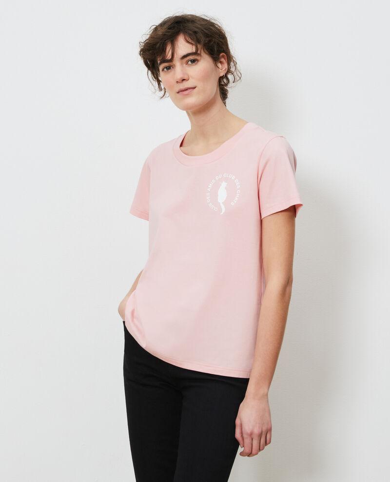 T-Shirt aus Baumwolle Powder pink Nyonsa