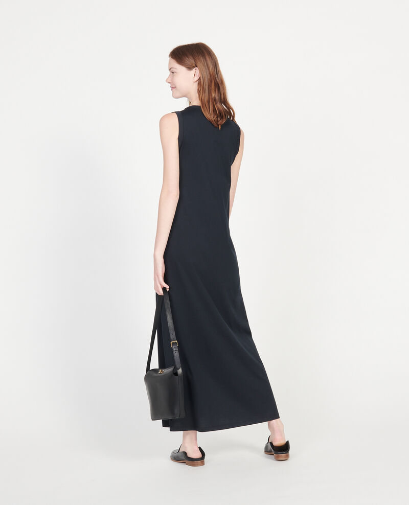 Langes Kleid aus merzerisierter Baumwolle Black beauty Larosa