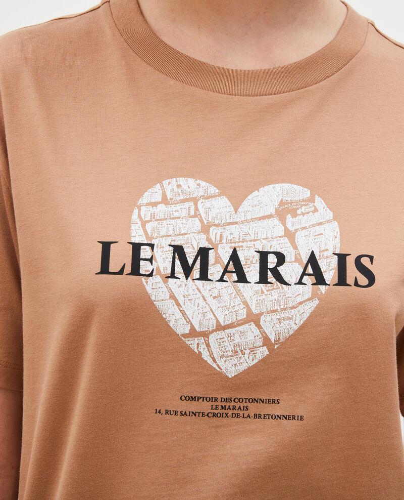 T-Shirt aus Baumwolle mit kurzen Ärmeln Latte Mia