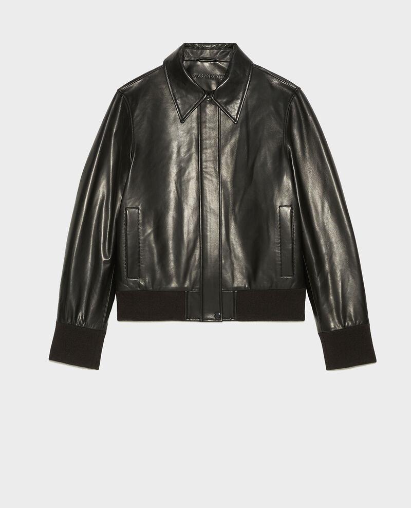 Jacke aus Lammleder mit Reißverschluss Black beauty Mettray