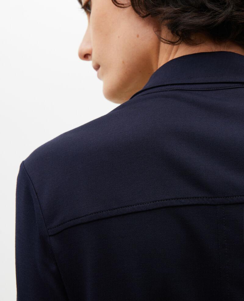 Hemdkleid aus Seidenjersey Maritime blue Lulia