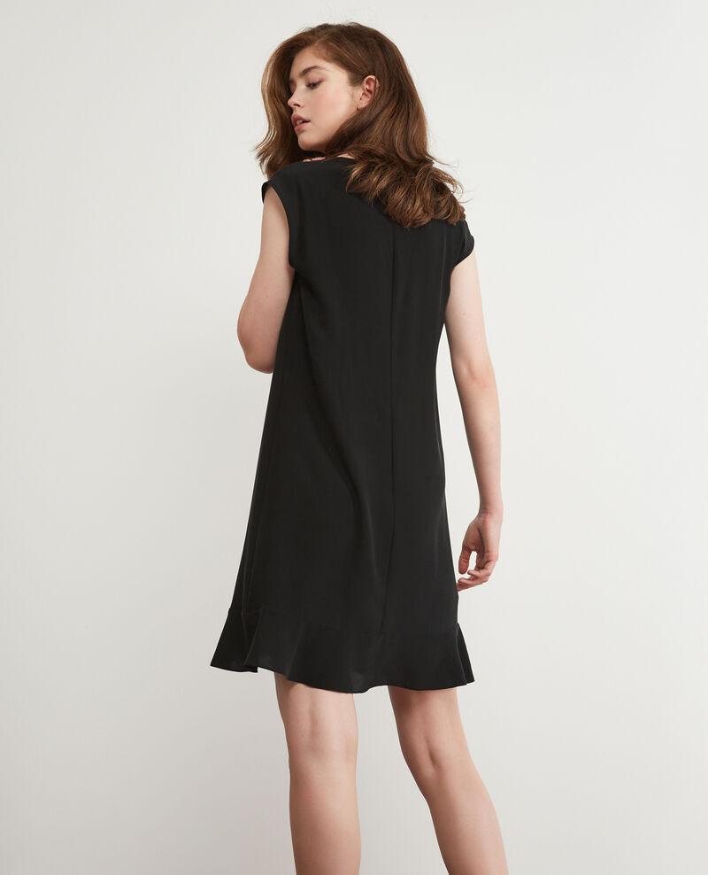 Seidenkleid Noir Dalienor