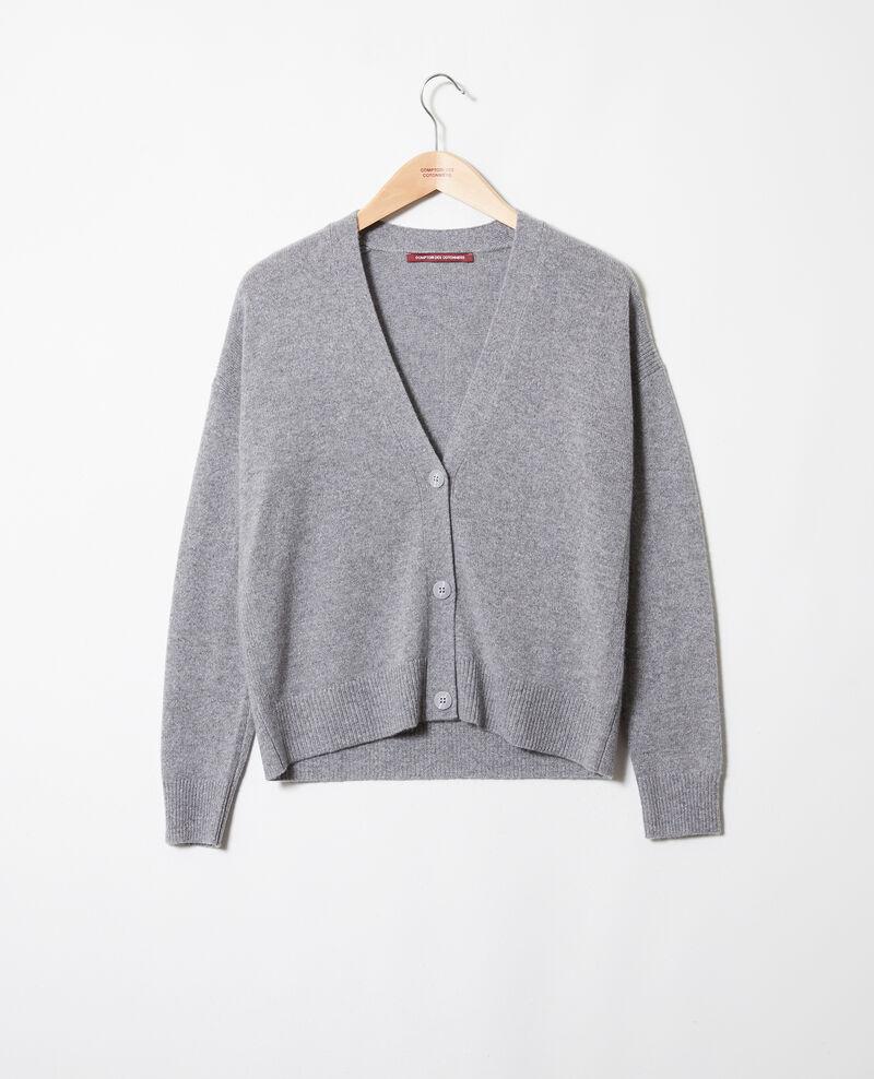 Cardigan aus 100 % Kaschmir Light grey Josiah