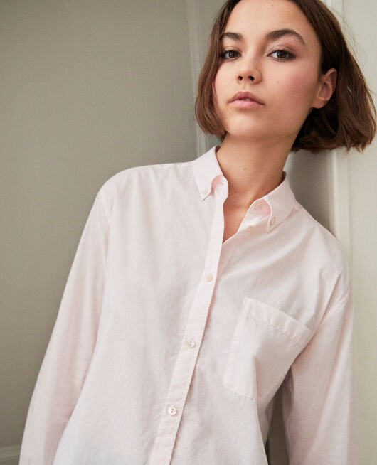 Zeitlose Bluse aus Baumwolle PINK