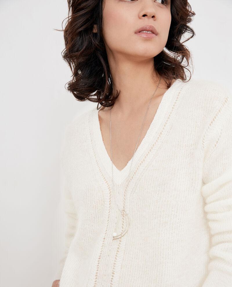 - Lange Modeschmuckkette Silver Fibuline