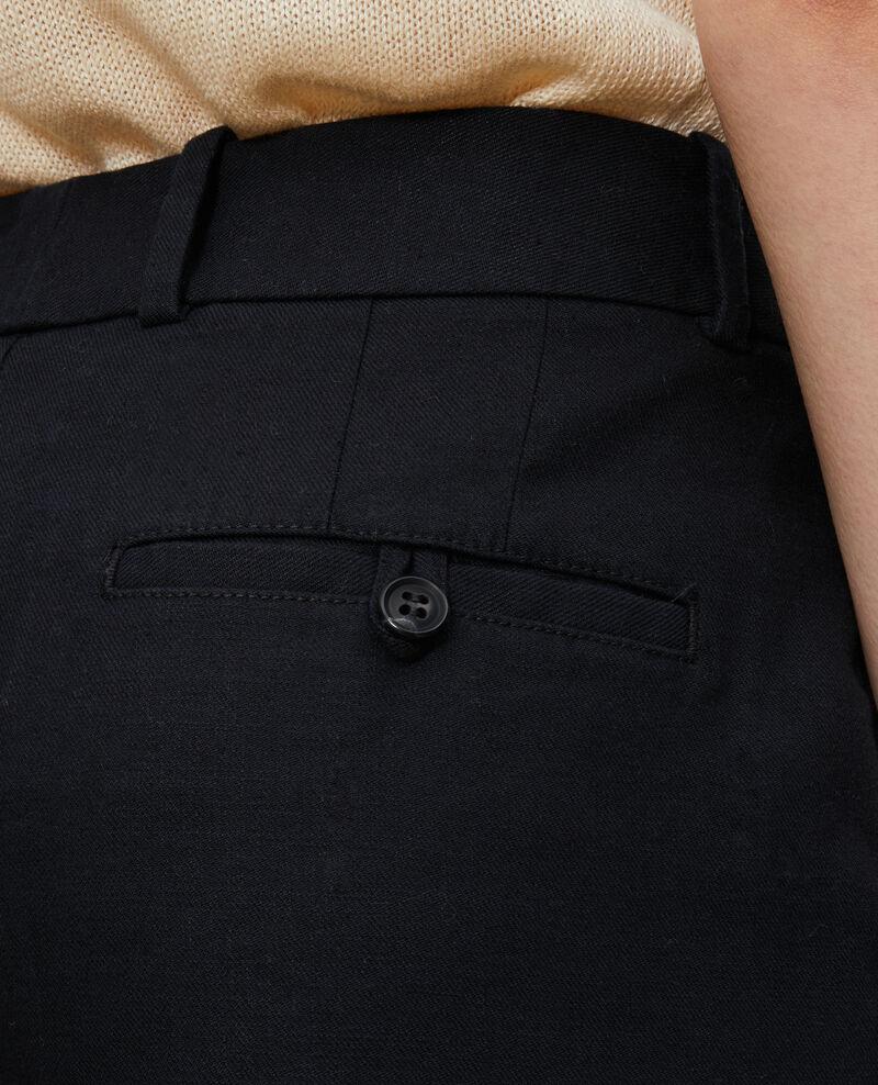 7/8-Hose aus Leinen- und Baumwollgemisch Black beauty Laiguillon
