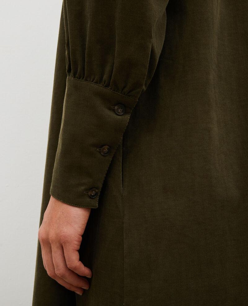 Weites Samtkleid mit Brusteinsatz  Military green Marcheville