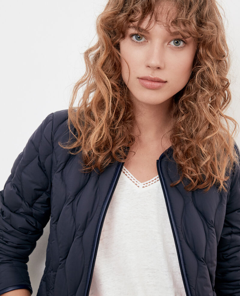 Verstaubare Daunenjacke Navy/lollipop Folin