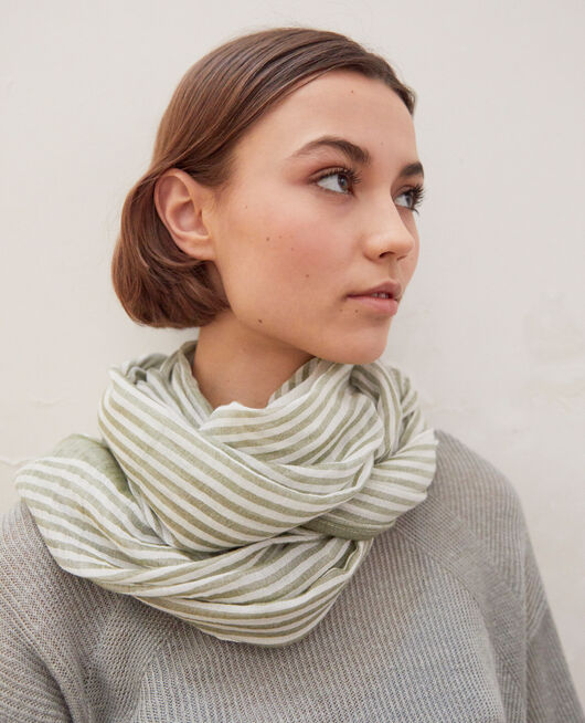 Foulard rayé BLANC/LIGHT CO