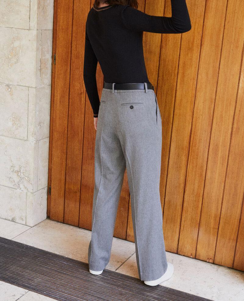 Hose mit weitem Schnitt Grau Gorgono