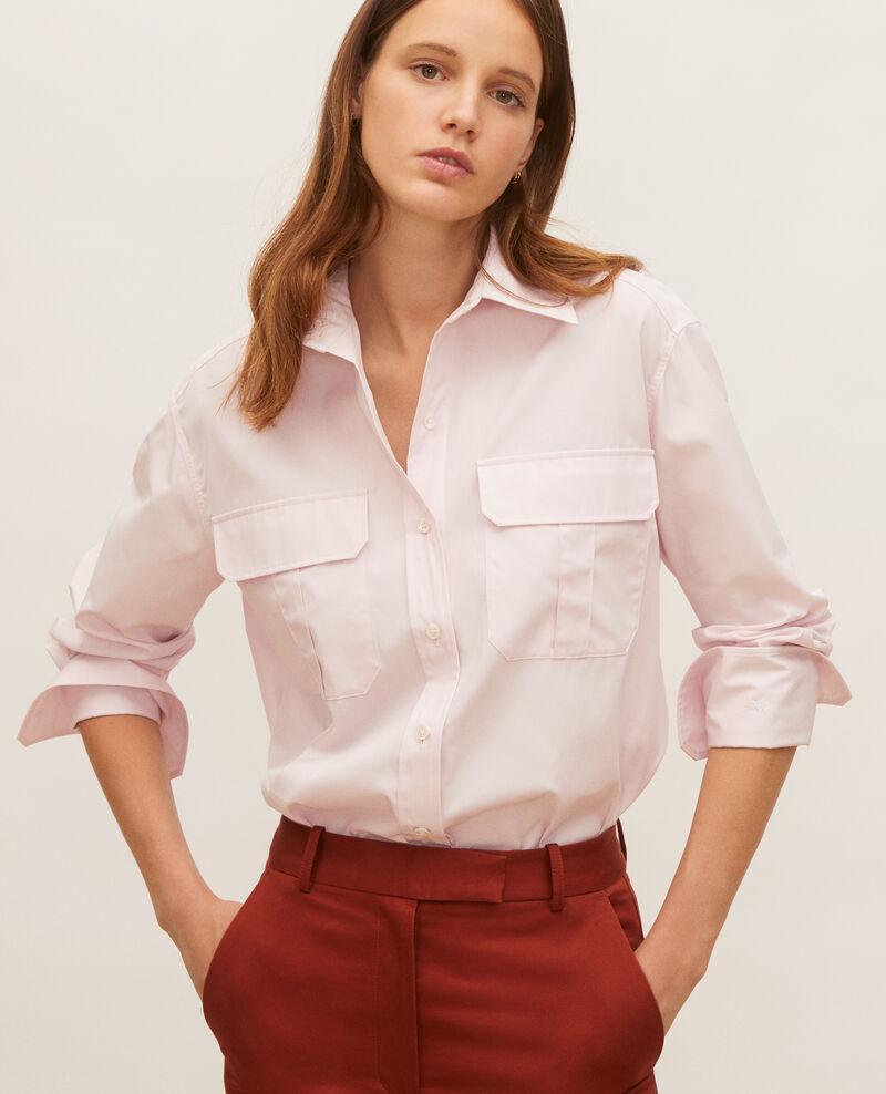 Bluse aus Baumwoll-Popelin Primrose pink Lauryl