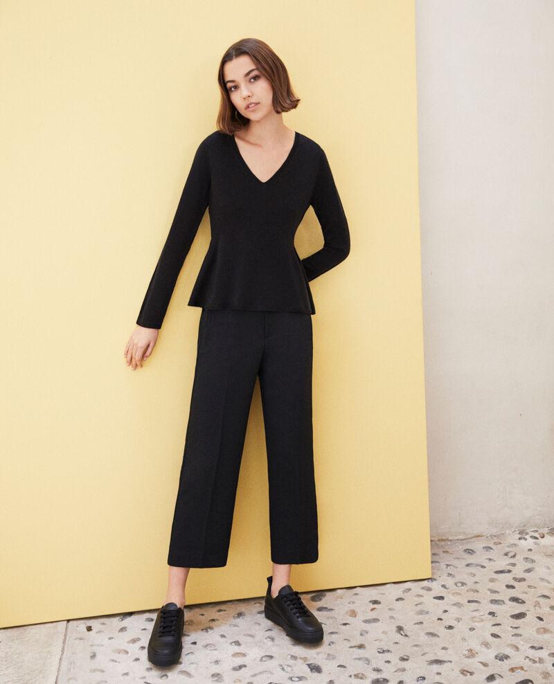 Pullover aus Wolle Noir Icarpan