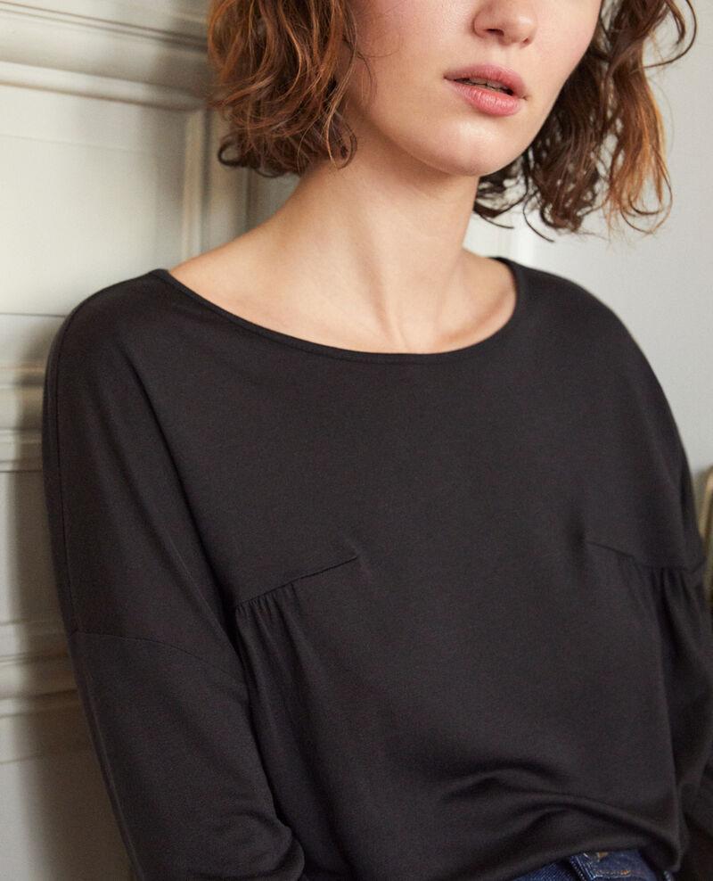 T-Shirt mit Rundhalsausschnitt Schwarz Graziela