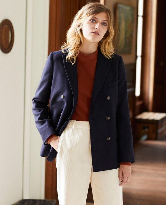 tailoring-Blazer mit Wolle DARK NAVY
