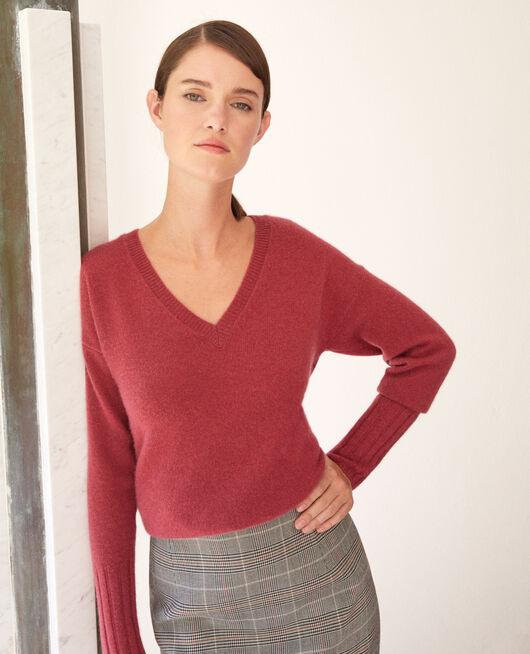 Pullover aus Kaschmir EARTH RED