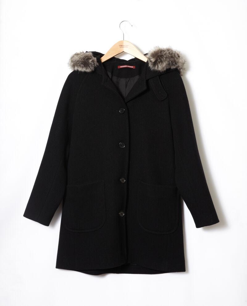Mantel mit Kapuze Noir Gustin