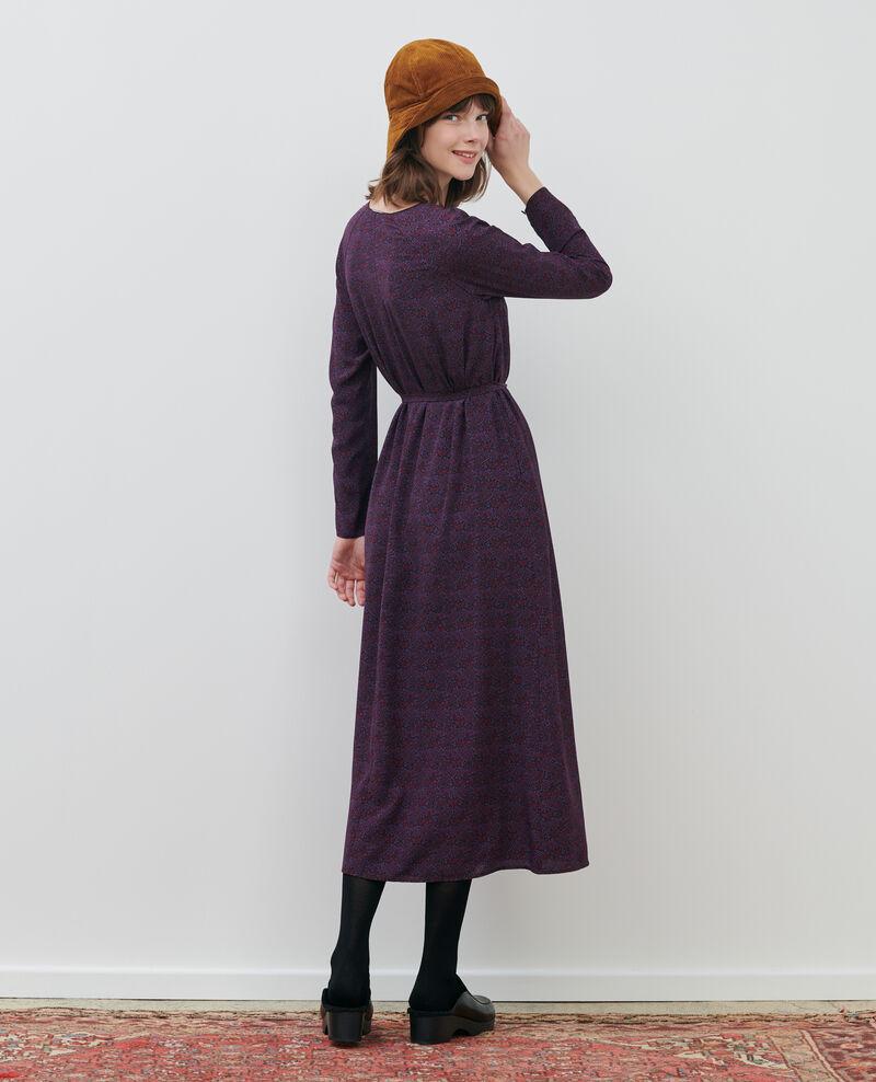 Langes Seidenkleid Paisley purple Paarsa