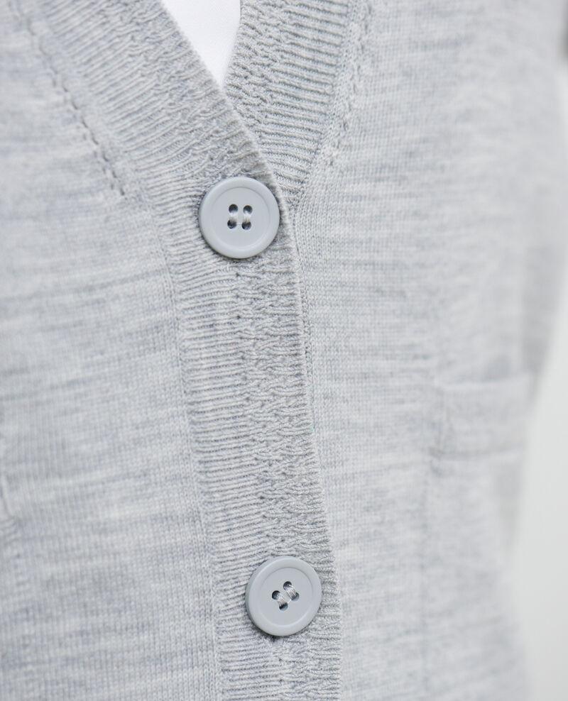 Kurzer Cardigan aus Wolle Melange grey Palabre